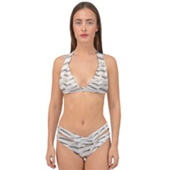 Backround Pattern Texture Dimension Double Strap Halter Bikini Set
