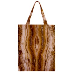 Marble Wall Surface Pattern Zipper Classic Tote Bag