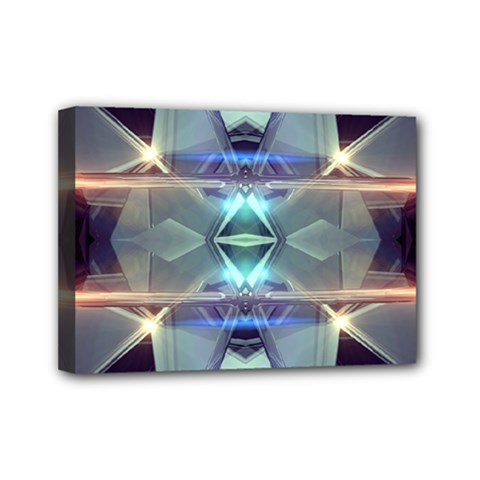 Abstract Glow Kaleidoscopic Light Mini Canvas 7  X 5  by Sapixe