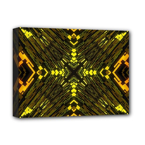 Abstract Glow Kaleidoscopic Light Deluxe Canvas 16  X 12
