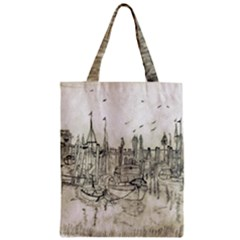 Pencil Drawing Drawing Port Zipper Classic Tote Bag