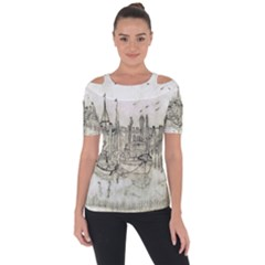 Pencil Drawing Drawing Port Short Sleeve Top by Sapixe