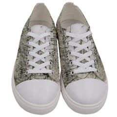 Pencil Drawing Drawing Port Women s Low Top Canvas Sneakers