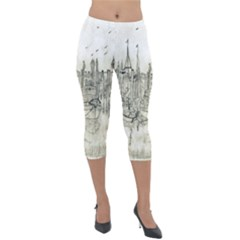 Pencil Drawing Drawing Port Lightweight Velour Capri Leggings
