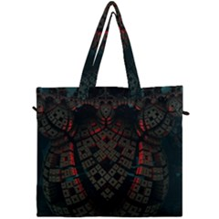 Fractal 3d Dark Red Abstract Canvas Travel Bag