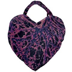 Fabric Textile Texture Macro Photo Giant Heart Shaped Tote by Sapixe