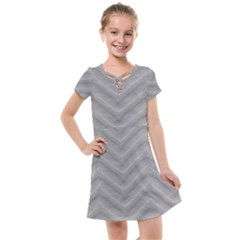 White Fabric Pattern Textile Kids  Cross Web Dress by Sapixe