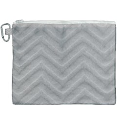 White Fabric Pattern Textile Canvas Cosmetic Bag (xxxl)