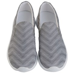 White Fabric Pattern Textile Men s Lightweight Slip Ons by Sapixe
