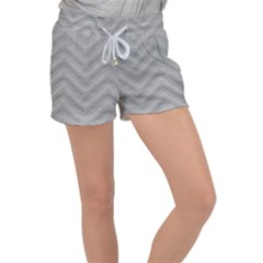 White Fabric Pattern Textile Women s Velour Lounge Shorts