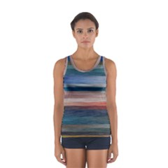 Background Horizontal Lines Sport Tank Top  by Sapixe
