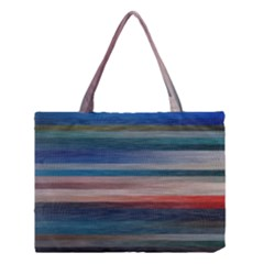 Background Horizontal Lines Medium Tote Bag by Sapixe