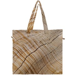 Abstract Brown Tree Timber Pattern Canvas Travel Bag