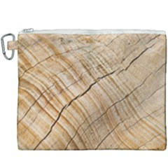 Abstract Brown Tree Timber Pattern Canvas Cosmetic Bag (xxxl) by Sapixe