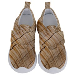 Abstract Brown Tree Timber Pattern Velcro Strap Shoes by Sapixe