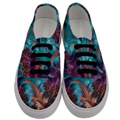 Feather Fractal Artistic Design Men s Classic Low Top Sneakers