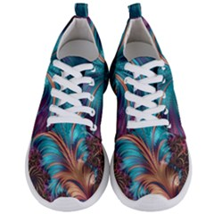 Feather Fractal Artistic Design Men s Lightweight Sports Shoes