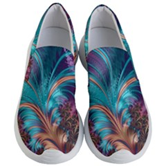 Feather Fractal Artistic Design Women s Lightweight Slip Ons by Sapixe