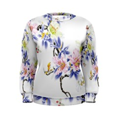 Lily Hand Painted Iris Women s Sweatshirt by Sapixe