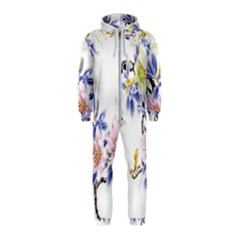 Lily Hand Painted Iris Hooded Jumpsuit (kids) by Sapixe
