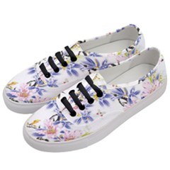 Lily Hand Painted Iris Women s Classic Low Top Sneakers by Sapixe
