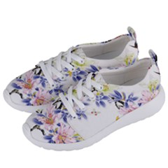Lily Hand Painted Iris Women s Lightweight Sports Shoes by Sapixe
