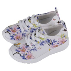 Lily Hand Painted Iris Kids  Lightweight Sports Shoes by Sapixe