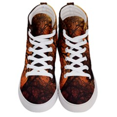 Sunset Silhouette Winter Tree Men s Hi-top Skate Sneakers