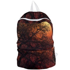 Sunset Silhouette Winter Tree Foldable Lightweight Backpack