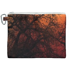 Sunset Silhouette Winter Tree Canvas Cosmetic Bag (xxl)