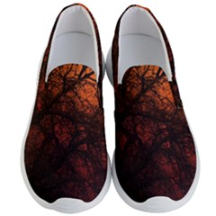 Sunset Silhouette Winter Tree Men s Lightweight Slip Ons