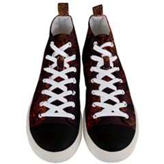Sunset Silhouette Winter Tree Men s Mid-top Canvas Sneakers