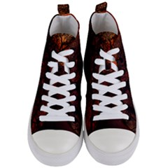 Sunset Silhouette Winter Tree Women s Mid-top Canvas Sneakers