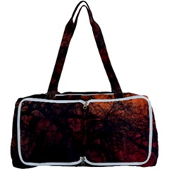 Sunset Silhouette Winter Tree Multi Function Bag