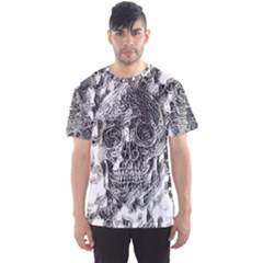 Ghost Gear   Death Sketch   Men s Sports Mesh Tee by GhostGear