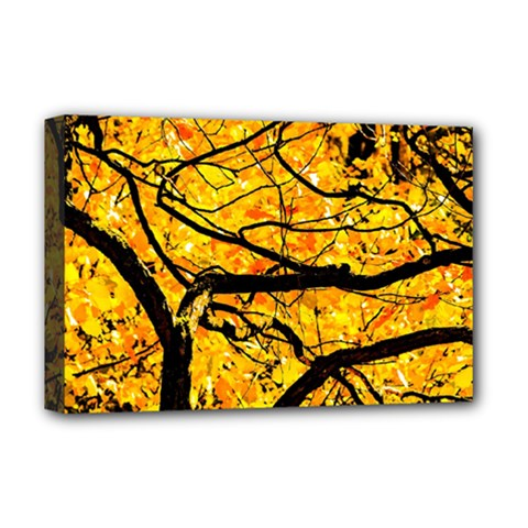 Golden Vein Deluxe Canvas 18  X 12   by FunnyCow