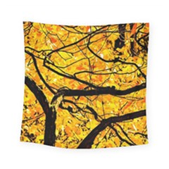 Golden Vein Square Tapestry (small) by FunnyCow