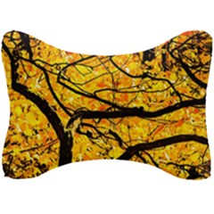 Golden Vein Seat Head Rest Cushion by FunnyCow