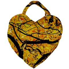 Golden Vein Giant Heart Shaped Tote