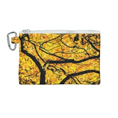 Golden Vein Canvas Cosmetic Bag (medium)
