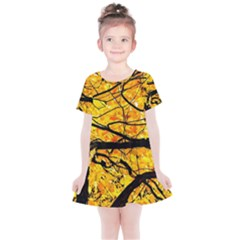 Golden Vein Kids  Simple Cotton Dress