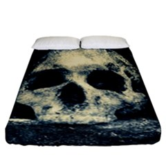 Skull Fitted Sheet (california King Size) by FunnyCow