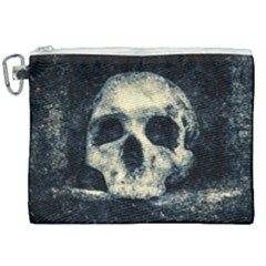 Skull Canvas Cosmetic Bag (xxl) by FunnyCow