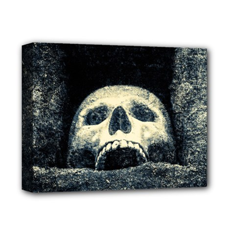 Smiling Skull Deluxe Canvas 14  X 11  by FunnyCow
