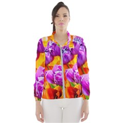 Tulip Flowers Windbreaker (women) by FunnyCow