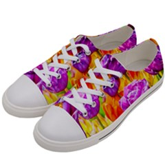 Tulip Flowers Women s Low Top Canvas Sneakers by FunnyCow