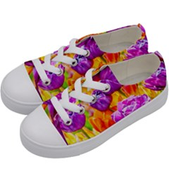 Tulip Flowers Kids  Low Top Canvas Sneakers by FunnyCow