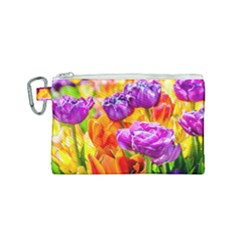 Tulip Flowers Canvas Cosmetic Bag (small) by FunnyCow
