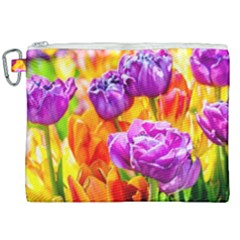 Tulip Flowers Canvas Cosmetic Bag (xxl) by FunnyCow