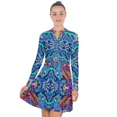 Colorful 2 4 Long Sleeve Panel Dress